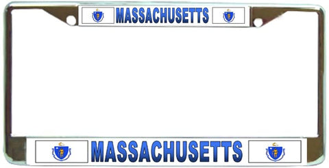 Massachussetts State #2 License Plate Frame Holder Chrome …