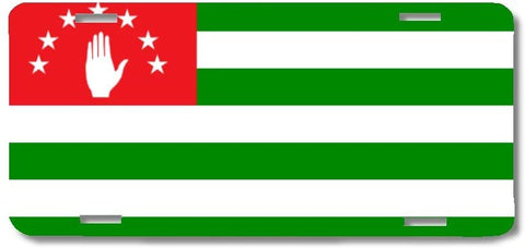 BrownInnovativeMedia Abkhazia World Flag Metal License Plate Car Tag Cover