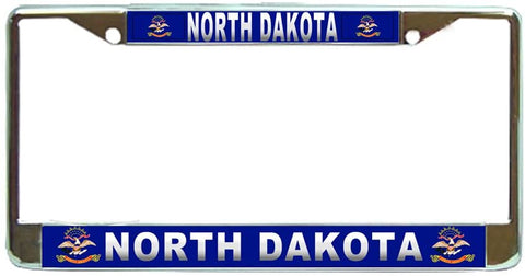 North Dakota State #3 License Plate Frame Holder Chrome …