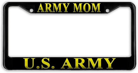 Army Mom Military License Plate Frame Holder Black