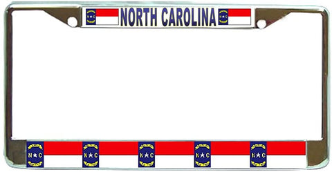North Carolina State License Plate Frame Holder Chrome …