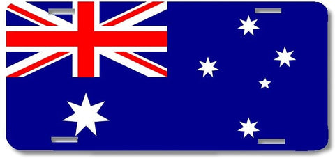 BrownInnovativeMedia Australia World Flag Metal License Plate Car Tag Cover