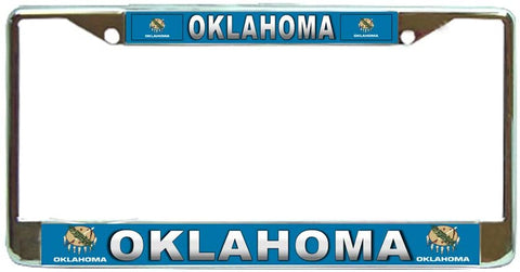Oklahoma State #3 License Plate Frame Holder Chrome …