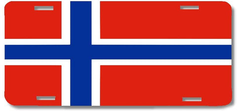BrownInnovativeMedia Norway World Flag Metal License Plate Car Tag Cover