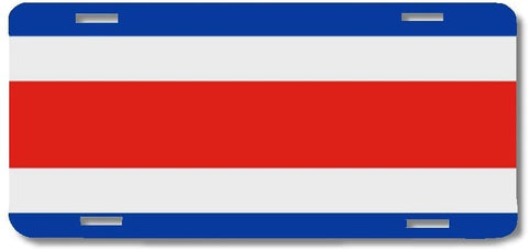 BrownInnovativeMedia Costa Rica World Flag Metal License Plate Car Tag Cover