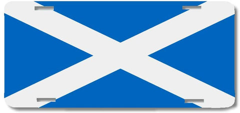 BrownInnovativeMedia Scotland World Flag Metal License Plate Car Tag Cover