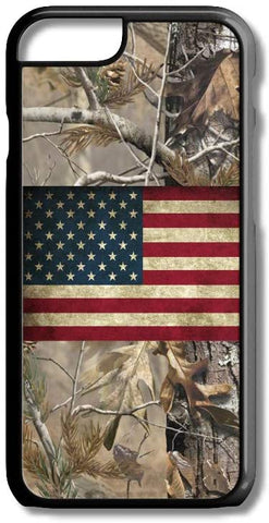 Camo USA American Flag Photo iPhone Case Cover for iPhone Case Cover 5/5S/SE/6/6S 6/6S 7 8 Plus X XS TPU (5/5S/SE Black Rubber TPU)