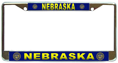 Nebraska State #3 License Plate Frame Holder Chrome …