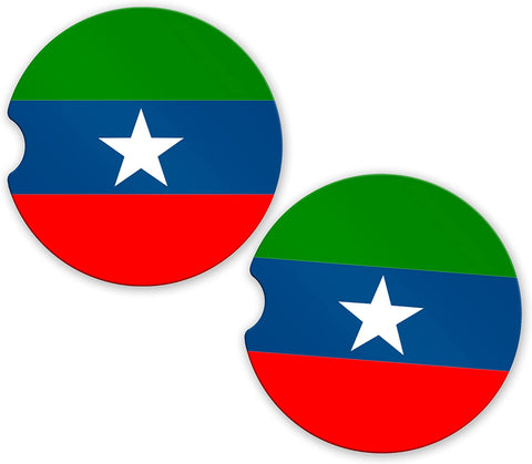Ogaden Flag Custom Car Coasters Cup Holder Matching Coaster Set