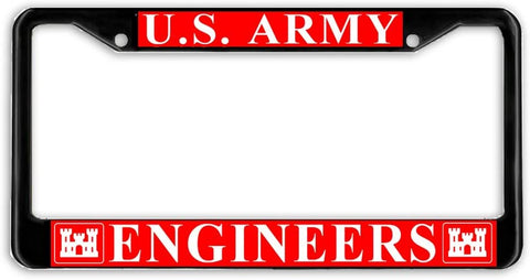 US Army Engineer Military License Plate Frame Holder Black …