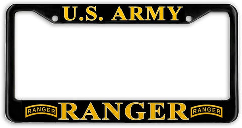 BrownInnovativeMedia US Army Ranger #2 Military License Plate Frame Holder Black …