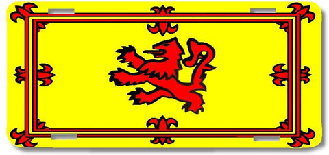 BrownInnovativeMedia Scottish Lion Scotland World Flag Metal License Plate Car Tag Cover
