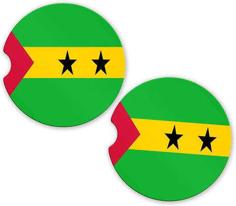 Saotome Flag Custom Car Coasters Cup Holder Matching Coaster Set