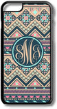 Tan Navy Aztec Tribal Pattern Custom Monogram for iPhone Case Cover 5/5S/SE/6/6S 6/6S 7 8 Plus X XS TPU