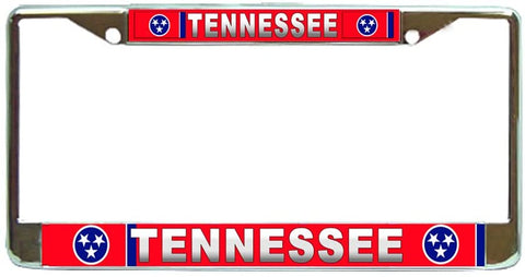 Tennessee State #3 License Plate Frame Holder Chrome …