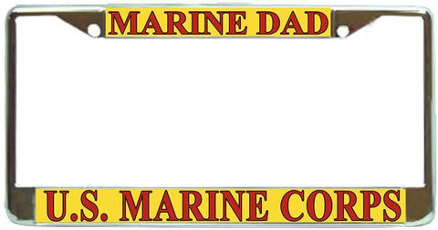 US Marine Corps Marines Dad Military License Plate Frame Holder Chrome …