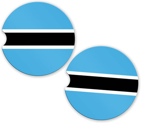 Botswana Flag Custom Car Coasters Cup Holder Matching Coaster Set