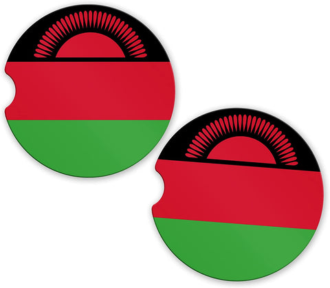 Malawi Flag Custom Car Coasters Cup Holder Matching Coaster Set