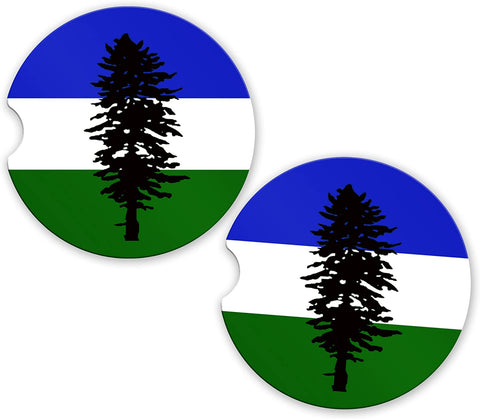 Cascadian Flag Custom Car Coasters Cup Holder Matching Coaster Set