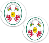 Togo World Flag Coat Arms Sandstone Car Cup Holder Matching Coaster Set