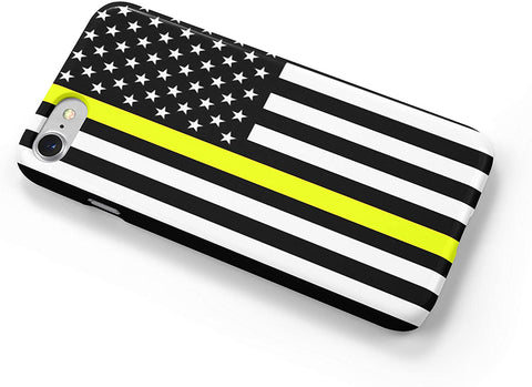 Thin Yellow Line Dispatchers Flag iPhone Case Cover 5/5S/SE/6/6S 6/6S 7 8 Plus X XS XR XS MAX 3D Wrap Around Case (iPhone 5/5S/SE)