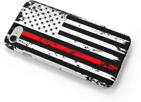 Thin Red Line Distressed Firefighters iPhone Case Cover 5/5S/SE/6/6S 6/6S 7 8 Plus X XS XR XS MAX 3D Wrap Around Case