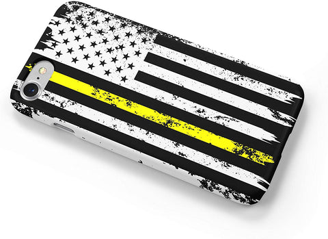 Thin Yellow Line Distressed Dispatchers iPhone Case Cover 5/5S/SE/6/6S 6/6S 7 8 Plus X XS XR XS MAX Wrap Around Case