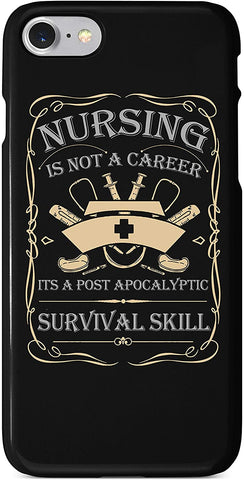 Nurse Survival Skill #2 iPhone Case Cover 5/5S/SE/6/6S 6/6S 7 8 Plus X XS 3D Wrap Around Case