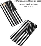 Thin Gray Line Correctional Officers iPhone Case Cover 5/5S/SE/6/6S 6/6S 7 8 Plus X XS XR XS MAX 3D Wrap Around Case