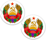 Transnistria World Flag Coat Arms Sandstone Car Cup Holder Matching Coaster Set