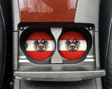 Austria Flag Custom Car Coasters Cup Holder Matching Coaster Set