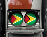 Guyana Flag Custom Car Coasters Cup Holder Matching Coaster Set