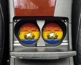 New Brunswick Flag Custom Car Coasters Cup Holder Matching Coaster Set