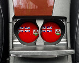 Bermuda Flag Custom Car Coasters Cup Holder Matching Coaster Set