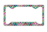 Aztec Jewels License Plate Frame Car Tag Aqua Teal Preppy