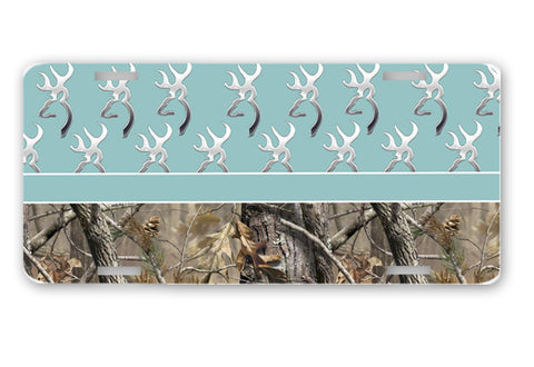 Blue Browning Camo License Plate Frame Car Tag Country Hunting