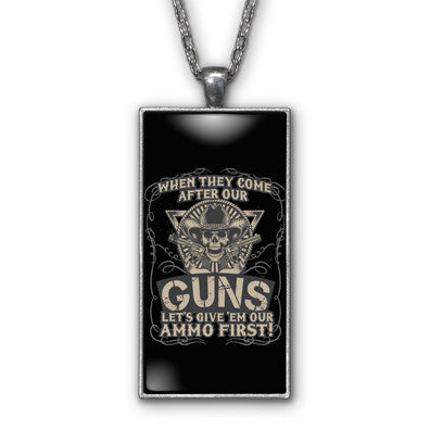 Guns Ammo Patriotic Pendant Necklace Jewelry