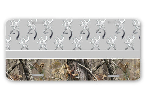 Gray Browning Camo License Plate Frame Car Tag Country Hunting