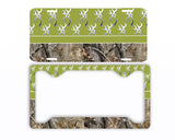 Green Browning Camo License Plate Frame Car Tag Country Hunting