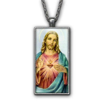 Jesus Christ Religious Symbol Pendant Necklace Jewelry