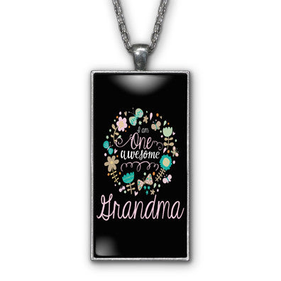 One Awesome Grandma Pendant Necklace Jewelry
