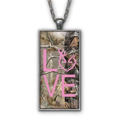 Pink Camo Love Browning Pendant Necklace Jewelry