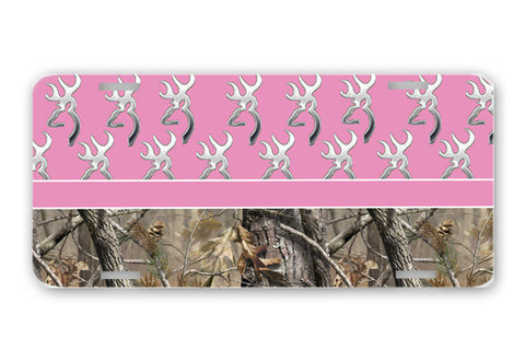 Pink Browning Camo License Plate Frame Car Tag Country Hunting