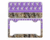 Purple Browning Camo License Plate Frame Car Tag Country Hunting
