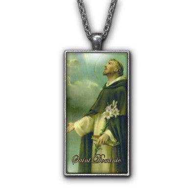 Saint Dominic Painting Religious Pendant Necklace Jewelry