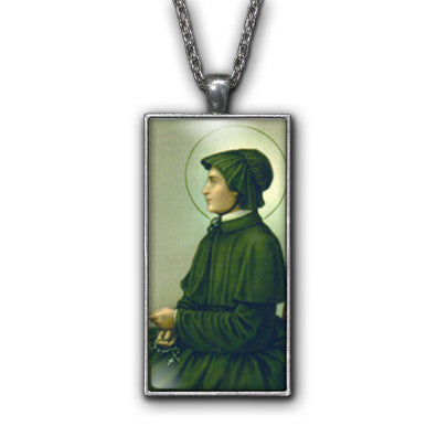 Saint Elizabeth Ann Seton Painting Religious Pendant Necklace Jewelry