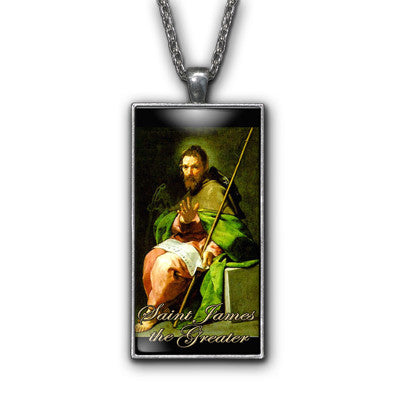Saint James Greater Painting Religious Pendant Necklace Jewelry
