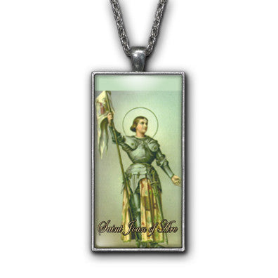 Saint Joan of Arc Painting Religious Pendant Necklace Jewelry