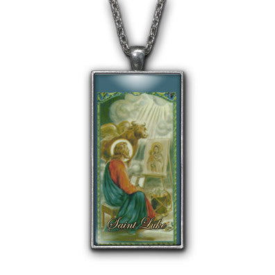 Saint Luke Painting Religious Pendant Necklace Jewelry