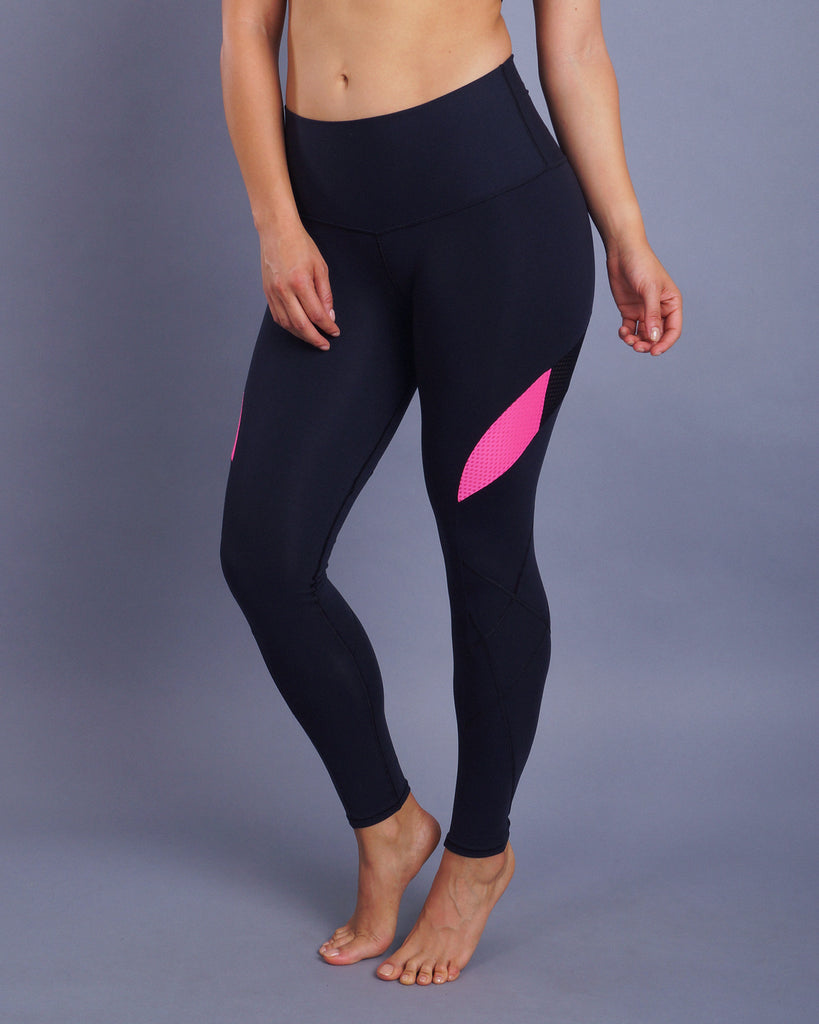 Leggins Supplex con Malla para Mujer LSSPAI 02 - Simetry Sportswear